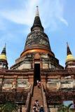 La grande pagoda in Tailandia Immagine Stock