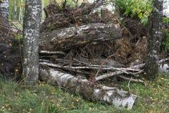 La grande pile des déchets, débris d'un bâtiment, a ruiné la maison, peut être employée comme conséquences de guerre, de tremblem Photographie stock