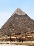 La grande piramide Fotografia Stock