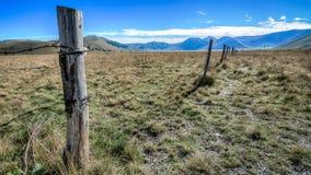 La grande plaine de Castelluccio Photographie stock libre de droits