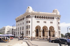 La Grande Poste Algiers is a building of neo-Moorish style Arabisance built in Algiers in 1910 Royalty Free Stock Images