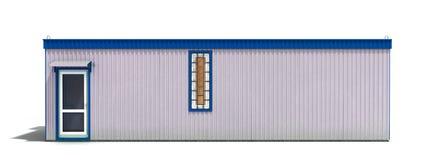 La grande remorque de construction d'isolement sur 3d blanc rendent Image stock