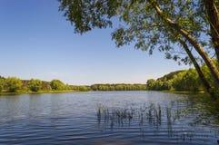 La grande rivière Volga Photographie stock libre de droits