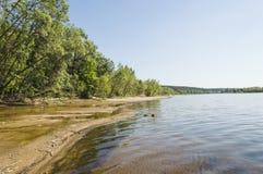 La grande rivière Volga Image libre de droits