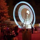 La grande rotella - Fete il DES Lumieres 2010 immagine stock libera da diritti