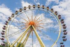 La grande roue sur le fond Image libre de droits