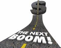 La grande route énorme d'opportunité de marché de gros lot de prochain boom illustration stock