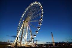 La grande ruota al piazza de la Concorde Fotografia Stock Libera da Diritti