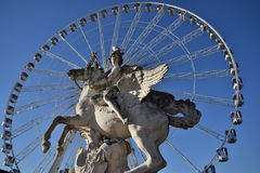 La grande ruota dei tuileries Fotografia Stock