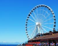 La grande ruota di Seattle Fotografie Stock