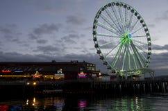 La grande ruota di Seattle Immagini Stock Libere da Diritti