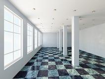 La grande salle avec la fenêtre Image libre de droits