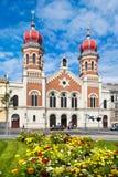 La grande sinagoga, città di Plzen, Boemia, repubblica Ceca Fotografie Stock Libere da Diritti