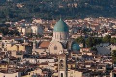 La grande sinagoga di Firenze Fotografia Stock