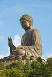 La grande statua del Buddha, isola di Lantau Fotografia Stock