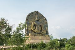 La grande statua di Buddha al ito di khao, Immagini Stock Libere da Diritti
