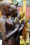 La grande statua di Buddha dopo la pioggia immagini stock libere da diritti