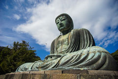 La grande statue Daibutsu de Bouddha à Kamakura, Japon Photographie stock