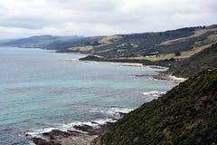 La grande strada dell'oceano, Victoria Australia Fotografie Stock