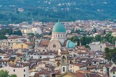 La grande synagogue de Florence a appelé Tempio Maggiore Capitol de la Toscane, Italie photos libres de droits