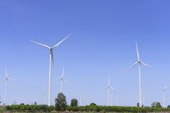 La grande turbina del mulino a vento Fotografia Stock