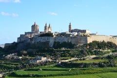 La grande vecchia città di Malta Lmdina Fotografia Stock
