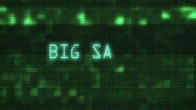La grande vendita esprime la scrittura di battitura a macchina del testo sulla vecchia animazione di lampeggiamento del fondo pri illustrazione vettoriale