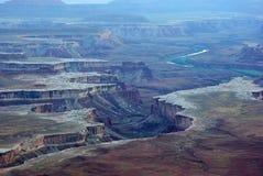 La grande vista trascura nella sosta nazionale di Canyonlands Fotografie Stock