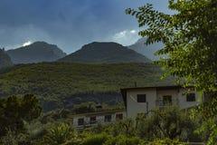 La grandeur des montagnes Photographie stock