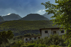 La grandezza delle montagne fotografia stock