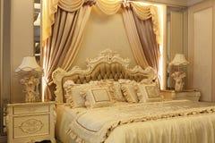 La grandiosità della camera da letto Fotografia Stock Libera da Diritti