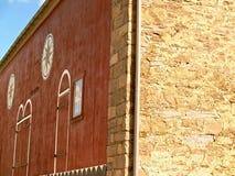 La grange de banque du 18ème siècle avec le sortilège signe dedans la Pennsylvanie Photo libre de droits