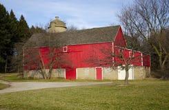 La grange rouge Photos stock