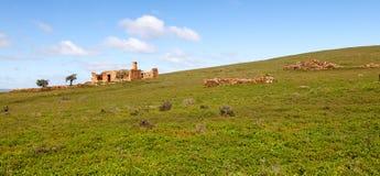 La granja abandonada en Flinders se extiende Australia Fotos de archivo libres de regalías