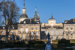 La Granja de圣・ Ildefonso皇宫 免版税库存图片