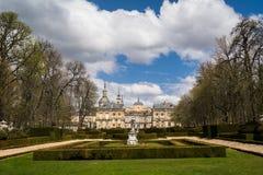 La Granja de圣・ Ildefonso,西班牙皇宫 库存照片