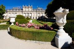 La Granja de San Ildefonso. With garden, Segovia Province, Castile and Leon, Spain Stock Image