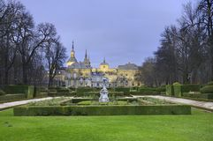La granja de San Ildefonso Royal Palace Royalty Free Stock Photo