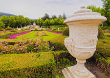 La Granja de San Ildefonso. Spain, Castile and Leon, Province of Segovia, San Ildefonso, View of the gardens of the Royal Palace of La Granja de San Ildefonso Stock Photography