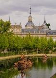 La Granja de San Ildefonso. Spain, Castile and Leon, Province of Segovia, San Ildefonso, View of the gardens of the Royal Palace of La Granja de San Ildefonso Stock Images