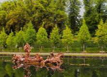 La Granja de San Ildefonso. Spain, Castile and Leon, Province of Segovia, San Ildefonso, View of the gardens of the Royal Palace of La Granja de San Ildefonso Royalty Free Stock Photography