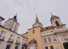 La Granja de San Ildefonso. Spain, Castile and Leon, Province of Segovia, San Ildefonso, View of the Royal Palace of La Granja de San Ildefonso Royalty Free Stock Photos