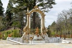La Granja. Source Statue of Hercules Royalty Free Stock Photography