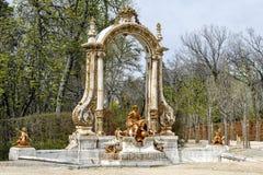 La Granja. Source Statue of  Minerva Stock Image