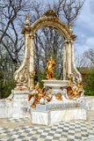 La Granja. Source Statue of Saturn Royalty Free Stock Photo