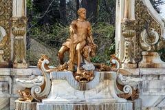 La Granja Statue de source de Hercule Image libre de droits
