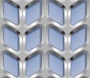 La grata del metallo, Vector il modello senza cuciture Immagini Stock Libere da Diritti