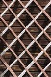 La grata di legno Fotografie Stock