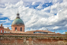 La Grave dome in toulouse and brick wall Stock Photo