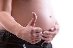 La gravidanza è GIUSTA! Fotografia Stock